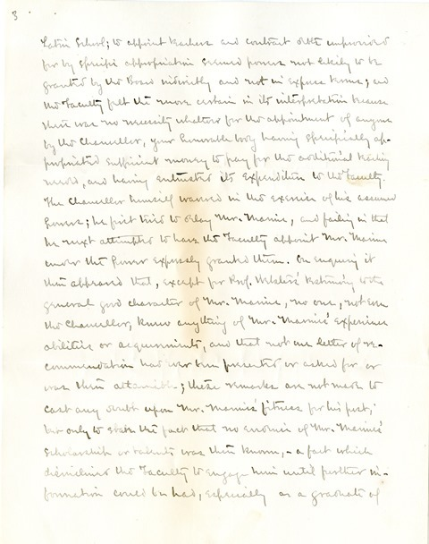 Letter from Aughey and Woodberry to the Board of Regents (3)