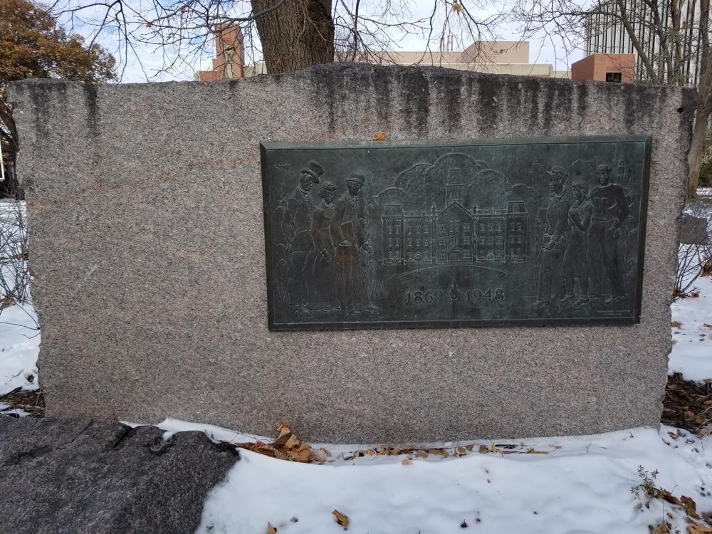 University Hall memorial plaque