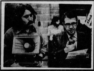 Newspaper photo, Joseph Soshnik and student