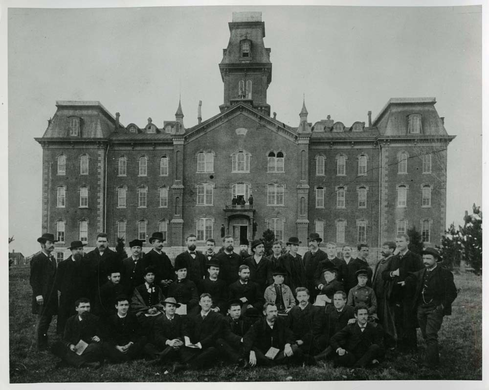 University Hall and group portrait