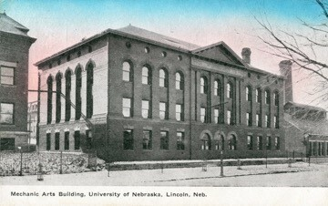 Postcard photo, Mechanical Arts Building
