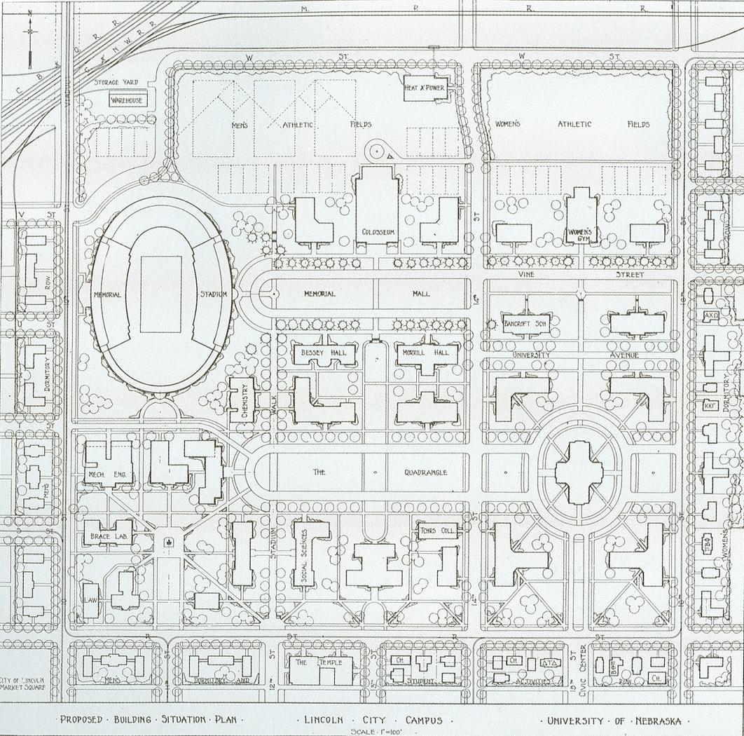 Campus plan, George Seymour