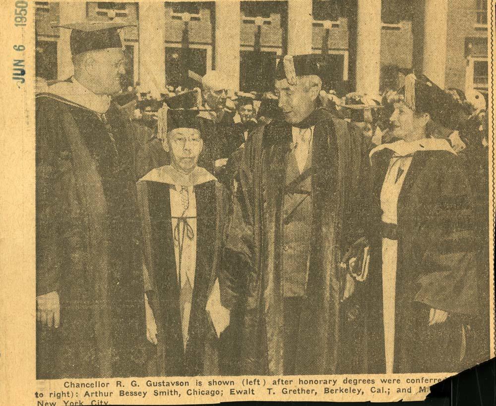 Newspaper photo, Mari Sandoz honorary degree