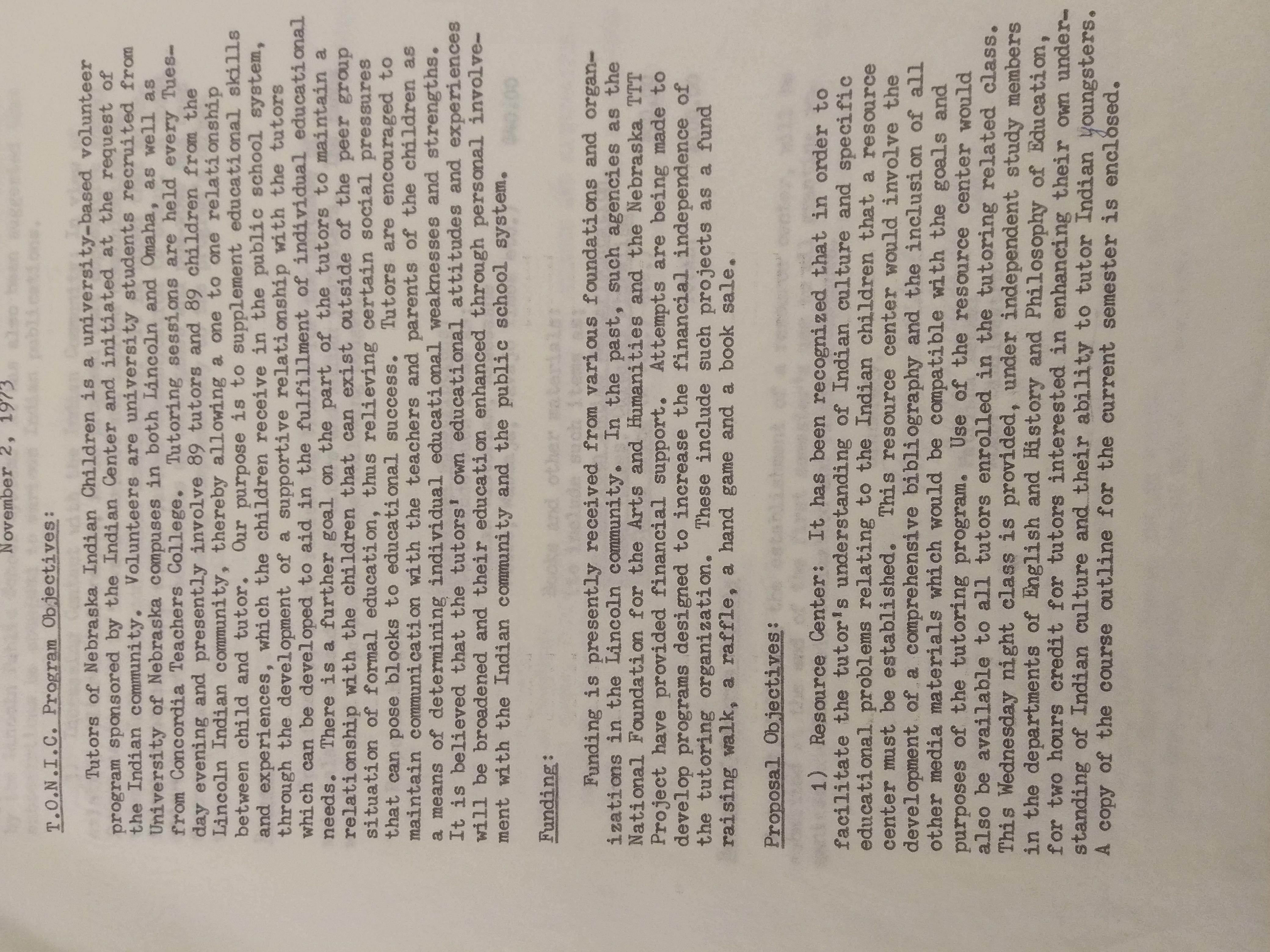 Proposal page, TONIC