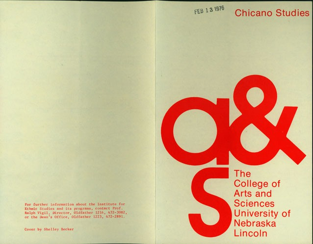 "Pamphlet, ""Chicano Studies - The College of Arts & Sciences"""