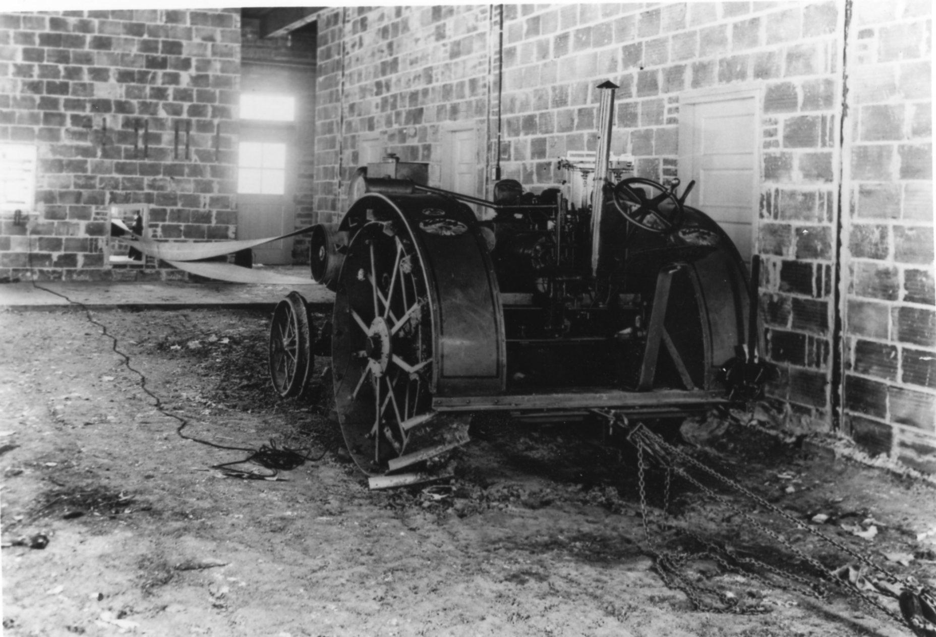Tractor in building