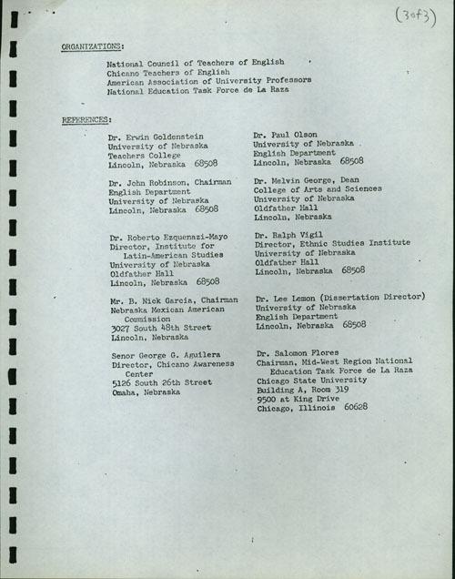 Grajeda Curriculum Vitae, 1972