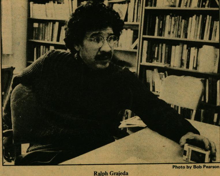 Newspaper photo, Ralph Grajeda