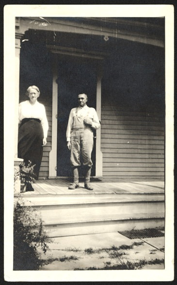 S.W. and Laura Perin on front porch