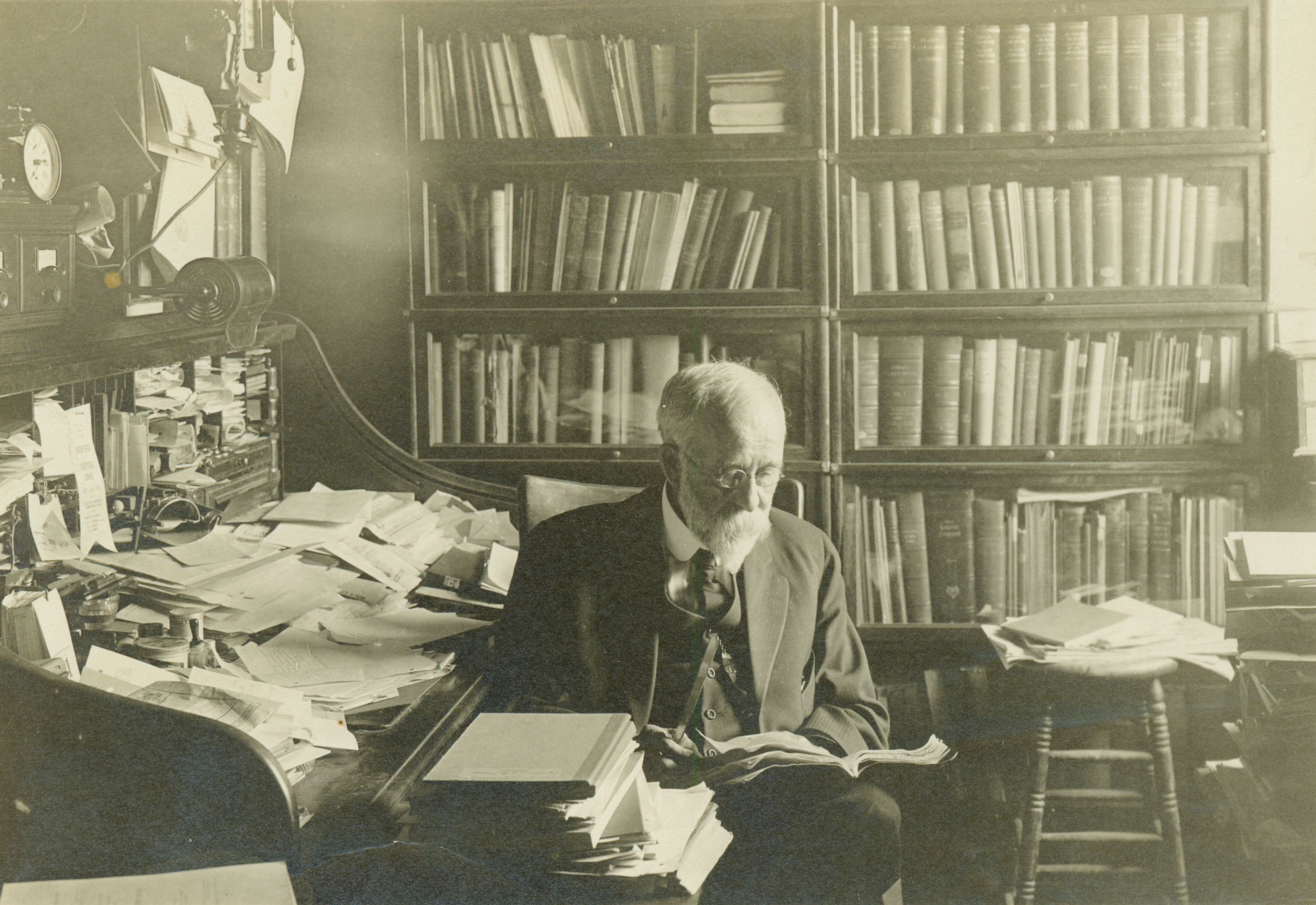 Charles E. Bessey in office