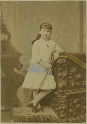 Willa Cather as a child <br />