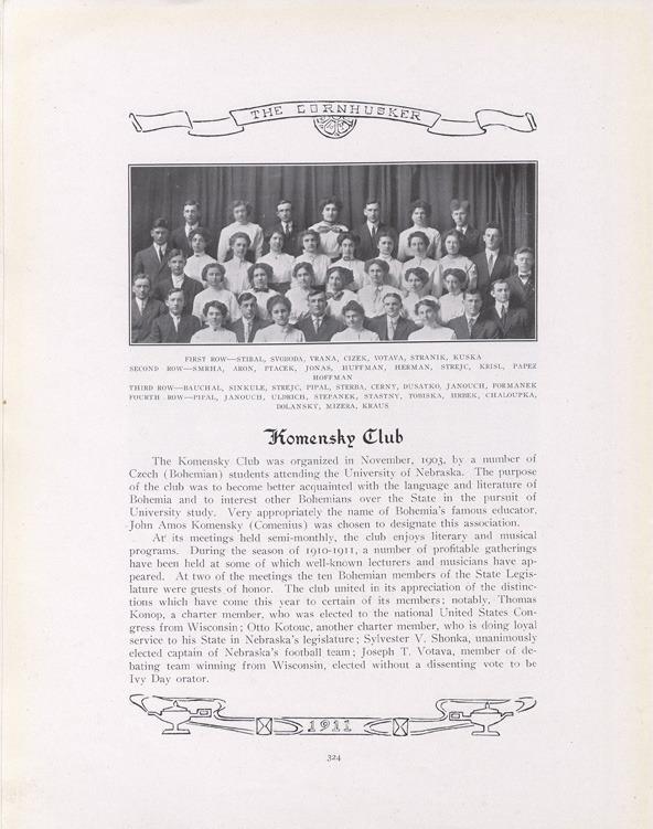 The Komensky Club 1911