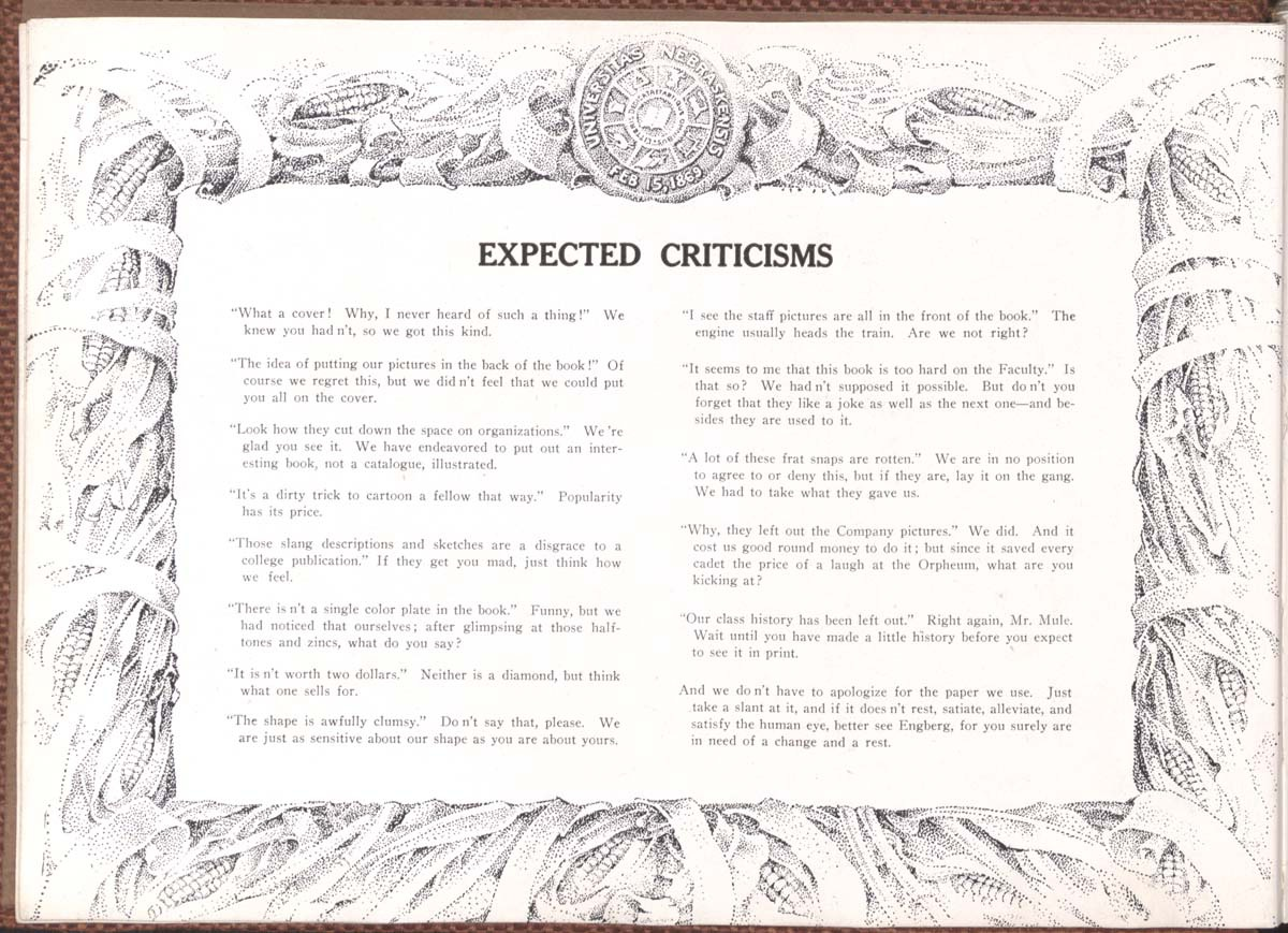 Expected Criticisms