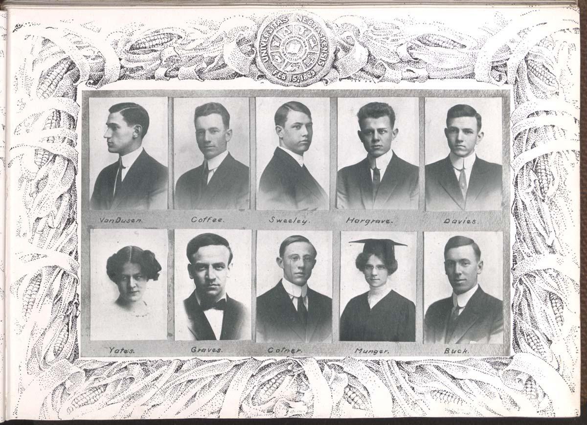 1912 Cornhusker Staff Photo