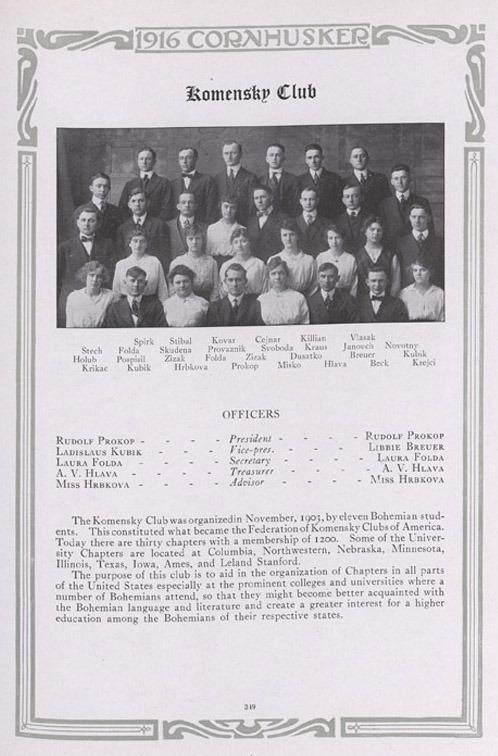 The Komensky Club 1916