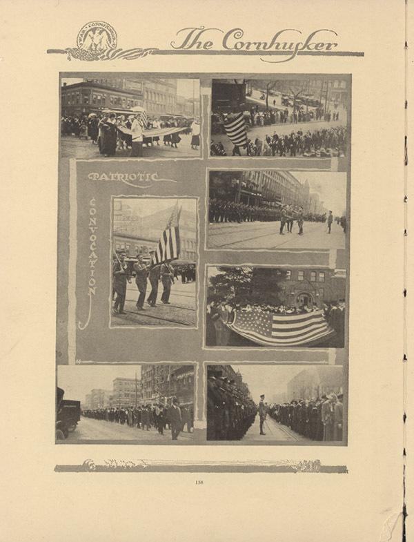 Patriotic Convocation photographs, Cornhusker Annual 1917