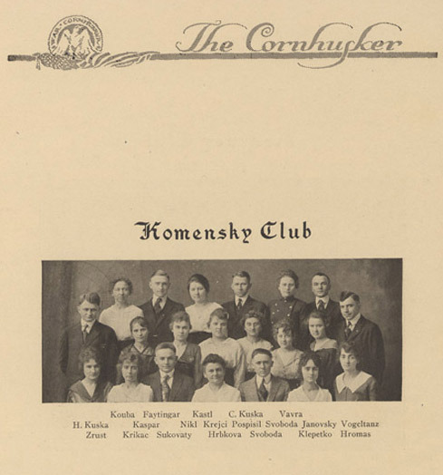 The Komensky Club 1918