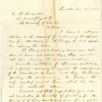 George Howard letter to Board of Regents, 1882, Dec. 18