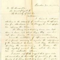 Letter, George Howard to Board of Regents
