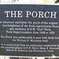 Plaque, The Porch