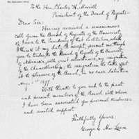 Handwritten letter, George Maclean to Charles H. Morrill
