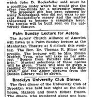 "Article, ""Accept Rockefeller's Money - Friends of Nebraska University Overcome Opposition and Raise Conditional Fund"""