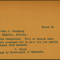 Avery to Pershing, 1917, Mar. 29
