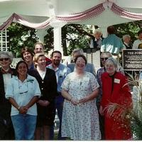 Porch dedication group portrait