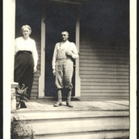 Dad and Laura Perin on the old porch