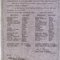 List, Department and professors