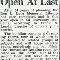 Love Library opening article pt. 1 (Sept. 19, 1945).jpg