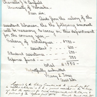 Letter, to James H. Canfield from Mary L. Jones