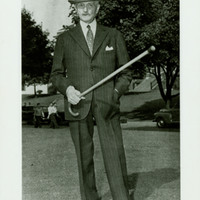 General Pershing with a Cane