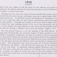 Nebraska football season recap, Cornhusker 1916
