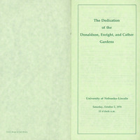Cather Garden Dedication Brochure