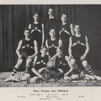 Group portrait, men's Basketball team