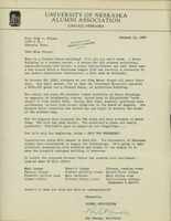 University Alumni Association Letter to Ruby C. Wilder