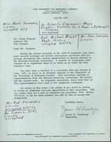 Chancellor Zumberge's letter of request to Grajeda