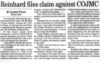 Reinhard files claim against COJMC