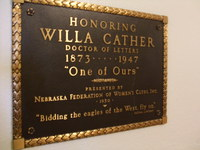 NFWC Willa Cather plaque