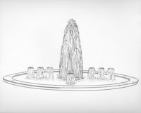 Sketch of the original Broyhill Fountain