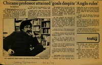 Chicano professor attained 'goals despite 'Anglo rules'