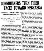 Huskers Turn Their Faces Toward Nebraska