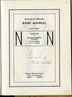 Cover Page of 1937 R.O.T.C. Band Manual