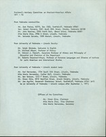 Presidents Advisory Committee on Mexican-American Affairs 1971- 72