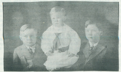 The three Metzger boys, 1914.