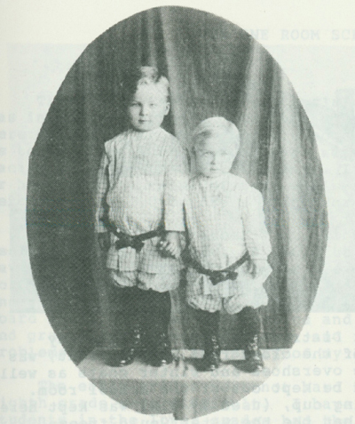 Lawrence and Jim Metzger at a young age.