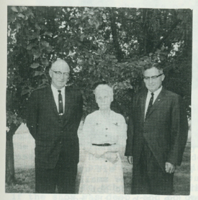 Cora Sowers and the Metzger boys, 1967.