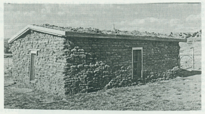 Sod house on Metzger farm.