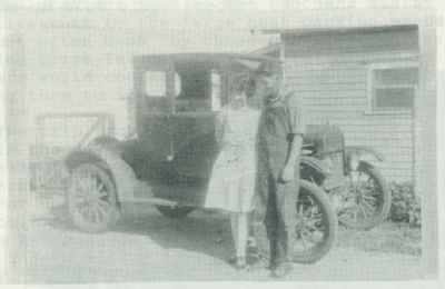 The 1922 Ford Coupe that Jim and Verna bought in 1929 for $25.00.